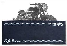 TEPPICH PADDOCK MOTORRAD SCHWARZ CAFE' RACER BIKETEK 190X80 ANTI-RUTSCH