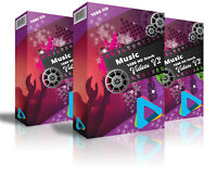 "HD (1080) Royalty Free Stock Footage Videos ""Music "" on DvD-Rom"