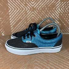 Vans Blue & Black Sparkly TB4R Women's 6.5  Off The Wall Skateboard Shoes