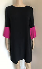 PAUL SMITH FLUTE SLEEVE SILK BLEND BLACK TUNIC  DRESS SIZE 8 UK BNWT