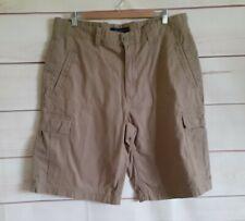 Tommy Hilfiger Cargo Shorts Size Waist 36 inch Brown Combat Pockets Button Up