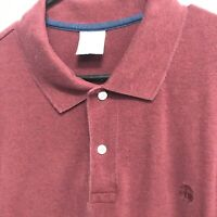 🌴BROOKS BROTHERS Men's Polo Solid Short Sleeve Size XL🌴 Slim Fit Burgundy