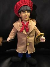 Three Stooges Moe Painter Artist Plush 15""