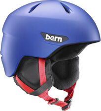 Bern WESTON YOUTH Kid's Boys Ski / Snowboard Helmet XS-S S-M Blue Black Camo
