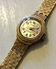 Reloj Pulsera Excelente damas muy pesado (sólidos 9ct Oro 9ct Pesado Vintage)