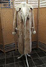 Armani Jeans Long Faux Suede & Fur lined coat Size UK 12