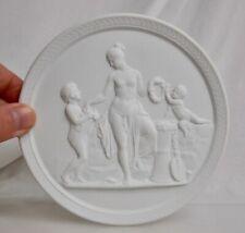 """Royal Copenhagen 5.5"""" Parian Bisque Porcelain Plaque - 83094"""