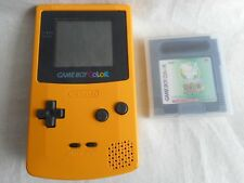 Nintendo Game Boy Color Yellow Handheld System With game + tracking number