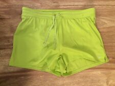 Women's Lands End lined tennis athletic workout shorts Lime Green size 10