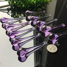 10Pc Magic Purple Angel Drop CRYSTAL Chandelier Prisms Lcicle Pendant SUNCATCHER
