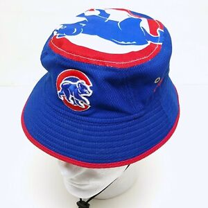 New Era Chicago Cubs Kids Bucket Hat Youth Blue Red Drawstring Sun Cap Boy Girl
