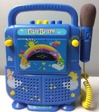 Care Bears Sing Along Karaoke Tape Cassette Player 2003 Smt-413 Blue Rainbow Mic