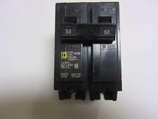 Square D HOM250 2P 50A 240V Circuit Breaker, New