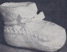 Vintage Knitting PATTERN Baby Booties Infant Knit Shoes