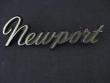 "CHRYSLER "" NEWPORT"" EMBLEM  BADGE SCRIPT TRIM   MOPAR"