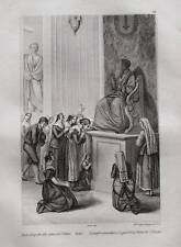 1836:ROMA,BACIO PIEDE STATUA S.PIETRO.AUDOT.Inc/Acciaio