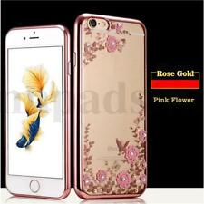 Floral Print Shockproof TPU Soft Gel Bling Case Bumper Cover for Various Phone