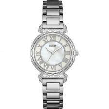 Guess Montre Femme Argent Blanc-superbe cadeau de Noël Anniversaire W0831L1