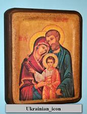 Handmade copy ancient FAMILIE IKONE Icona Icon Holy Family Святое семейство