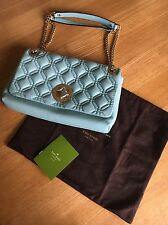 Kate Spade Cynthia Astor Court Grace Blue Quilted Leather Shoulder Bag RRP £505