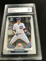 2014 BOWMAN CHROME DRAFT TOP PROSPECTS KRIS BRYANT RC CTP62 GRADED 10