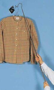 """52"""" Reach Pole Garment Retriever Pole Retail Long Hook Reacher Hanger Extender"""
