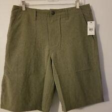 NWT $55 Mens size 38 Volcom Kerosene Hybrid Green - MIL walking Shorts 4 way