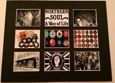 "Northern Soul Ska Mod Mounted Discography Picture 14"" By 11"" Free Postage"