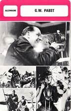 FICHE CINEMA :  G. W. PABST -  Allemagne (Biographie/Filmographie)
