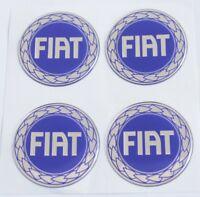 4x 60mm FIAT Felgenaufkleber Aufkleber Sticker Emblem Radkappen Silikon BLAU