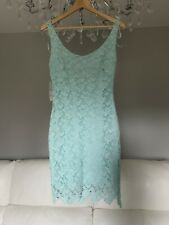 Zara TRF Pale Blue Lace Dress, Size M, New £39.99