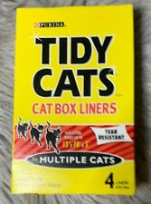 Tidy Cats Cat Litter Box Liners 4-pack