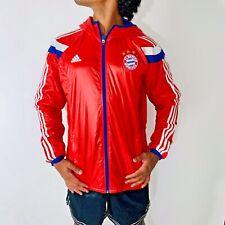 Rare Adidas Germany Bayern Munchen Woven Nylon Glanz Anthem Jacket Sexy Red Larg