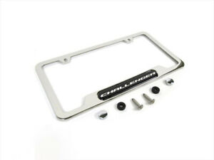 2008-2020 DODGE CHALLENGER CHROME LICENSE PLATE FRAME OEM MOPAR NEW 82214923
