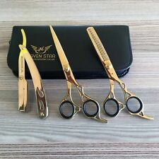 "Professional Barber Hairdressing Scissors Set 6.5"" THE GOLD Edition & RAZOR Kit"