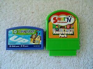 Lot Of 2 Video Game Cartridges,1,Leapster Up,1,SmarTV Adventures Amusement Park