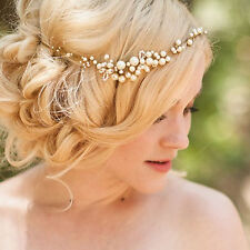 Bridal Tiny Beads Pearls Tiara Hair Vine Headband Crown Wedding  Hair Headpiece