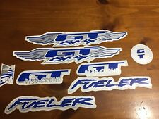 New mid old school bmx Gt stickers Die-Cut Decals 8 Pieces set Blue And Gray