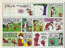 Calvin and Hobbes by Bill Watterson - color Sunday comic page - Sept. 18, 1994