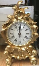 Acctim Vichy Baroque Style Clock Pewter Finish Mantel Roman Numeral Fireplace