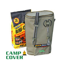 Camp Cover Charcoal Storage & Carry Bag - Khaki Ripstop - CCC005-A