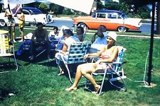 #8 35mm slide - Vintage - Collectibles -Photo - cars street people men lady