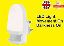 UK LED Kids Plug In Night Light With PIR Movemnt Sensor Nursery Bedroom Hallway