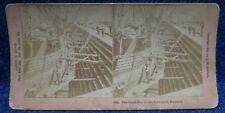 England Liverpool Masted Sailing Ship in the Great Dry Docks Stereoview