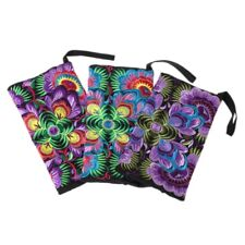 Embroidered Wristlet Bag Ethnic Embroidery Wallet Coin Purse Handbag Presents