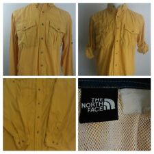 The North Face Men's Outdoor Mesh Yellow Camping/Hiking/Fishing/Sporting Shirt L