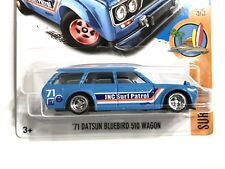 Hot Wheels CUSTOM Datsun 510 Wagon Lowered With Real Riders - Super Custom