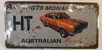 Holden GTS Monaro Orange Australian Muscle Car Distressed Metal License Plate