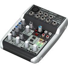 Behringer Xenyx Q502USB 5-Input 2-Bus Mixer 3 Band EQ USB Audio Interface