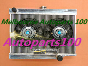 3 ROW Aluminum Radiator + FANS For HOLDEN EJ/EH 179 2.9L L6 1962-1965 1963 64 M